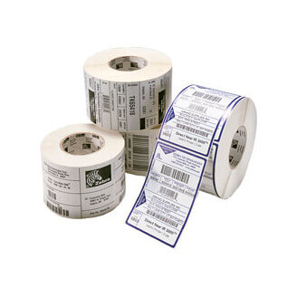 Boîte de 4 rouleaux d'étiquettes transfert thermique 102mmx51mm Z-Select 2000T White Zebra 880134-050