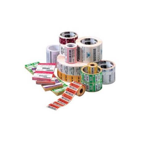 Boîte de 12 rouleaux d'étiquettes transfert thermique 32mmx25mm Z-Select 2000T White Zebra 800271-105