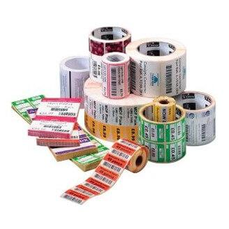 Boîte de 12 rouleaux d'étiquettes direct thermique 57mmx51mm Z-Select 2000D White Zebra 800262-205