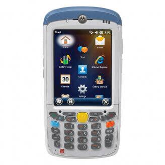 "Zebra MC55X ordinateur portable de poche 8,89 cm (3.5"") 640 x 480 pixels Écran tactile 365 g Bleu, Blanc"