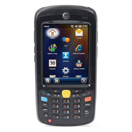 """Zebra MC55X ordinateur portable de poche 8,89 cm (3.5"""") 320 x 240 pixels Écran tactile 365 g Noir"""