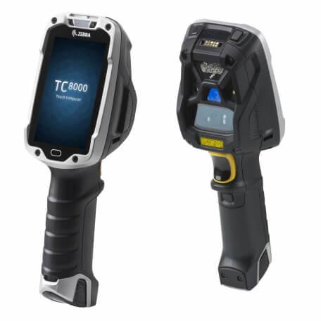 """Zebra TC8000 ordinateur portable de poche 10,2 cm (4"""") 800 x 480 pixels Écran tactile 490 g Noir, Argent"""
