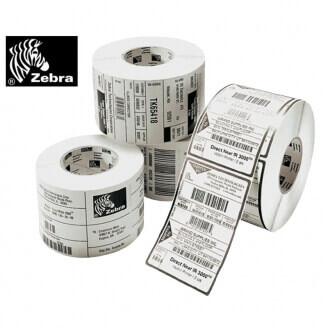 Boîte de 12 rouleaux d'étiquettes direct thermique 76mmx51mm Z-Perform 1000D White Zebra 800283-205