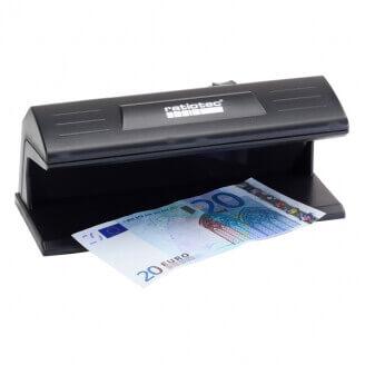 ratiotec Soldi 120 détecteur de faux billets Noir