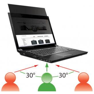 Mobilis 016230 filtre anti-reflets pour écran et filtre de confidentialité Filtre de confidentialité sans bords pour ordinateur
