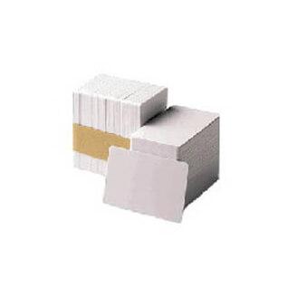 Boîte de 500 cartes PVC blanches 0,76mm - 30 mil. Zebra 104523-111