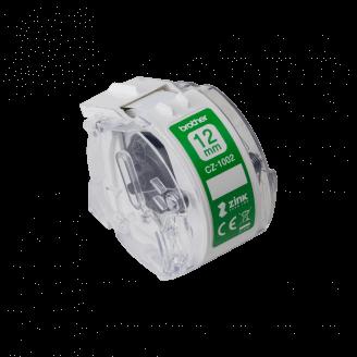 Brother CZ-1002 ruban d'étiquette Blanc sur vert