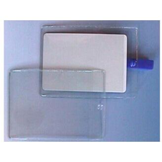 Lot de 100 porte-badges transparents horizontaux format carte de crédit