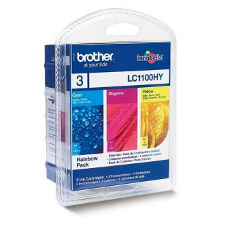 Brother LC-1100HYRBWBP cartouche d'encre Original Cyan, Magenta, Jaune Multipack 3 pièce(s)