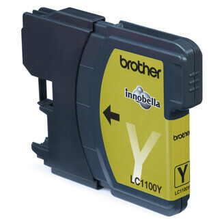 Brother LC-1100Y Yellow Ink Cartridge Blister Pack Original Jaune