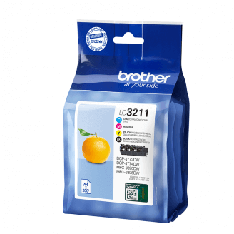 Brother LC-3211VAL cartouche d'encre Original Noir, Cyan, Magenta, Jaune Multipack