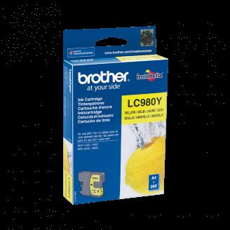 Brother LC-980Y cartouche d'encre Original Jaune 1 pièce(s)