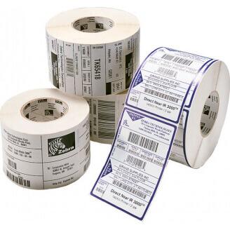 Boîte de 12 rouleaux d'étiquettes transfert thermique 102mmx102mm Z-Select 2000T Zebra 3006321