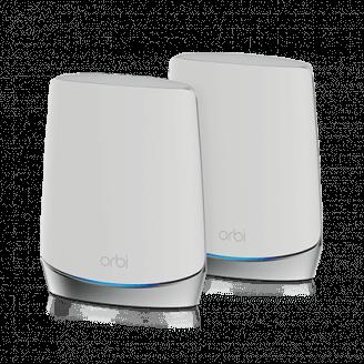 Netgear Orbi WiFi6 routeur sans fil Tri-bande (2,4 GHz / 5 GHz / 5 GHz) Gigabit Ethernet Acier inoxydable, Blanc