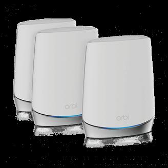 Netgear Orbi WiFi 6 routeur sans fil Tri-bande (2,4 GHz / 5 GHz / 5 GHz) Gigabit Ethernet Acier inoxydable, Blanc