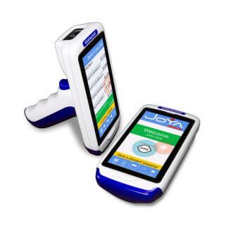 """Datalogic Joya Touch A6 HC ordinateur portable de poche 10,9 cm (4.3"""") 854 x 480 pixels Écran tactile 275 g Cyan, Blanc"""
