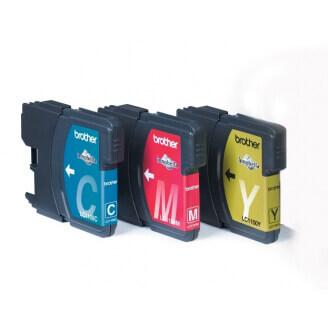 Brother Voordeelverpakking LC-1100C,M,Y Original cyan, magenta, Jaune 3 pièce(s)