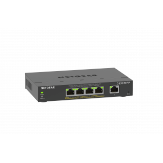 Netgear GS305EPP Géré L2/L3 Gigabit Ethernet (10/100/1000) Noir Connexion Ethernet, supportant l'alimentation via ce port (PoE)