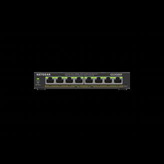 Netgear GS308EP Géré L2/L3 Gigabit Ethernet (10/100/1000) Noir Connexion Ethernet, supportant l'alimentation via ce port (PoE)