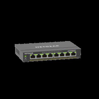 Netgear GS308EPP Géré L2/L3 Gigabit Ethernet (10/100/1000) Noir Connexion Ethernet, supportant l'alimentation via ce port (PoE)