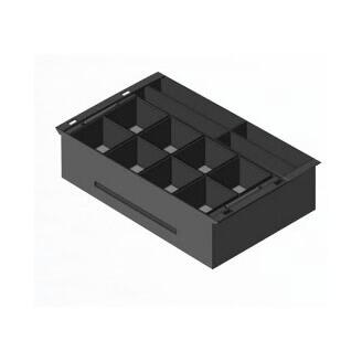 APG Cash Drawer 20466PAC tiroirs caisse Synthétique ABS Noir