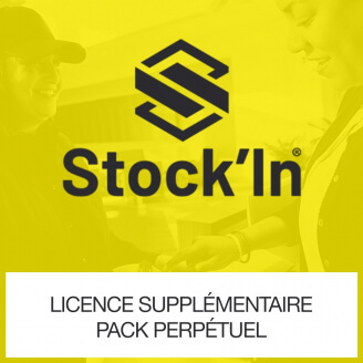 Licence supplémentaire Pack perpétuel global Stock In DROID Gestion de Stock