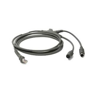 Zebra Cable KBW P/S2 câble PS/2 2,1 m Gris
