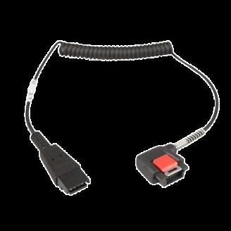 Zebra CBL-NGWT-AUQDLG-01 câble audio Noir
