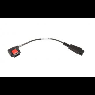 Zebra CBL-NGWT-AUQDST-01 câble audio Noir