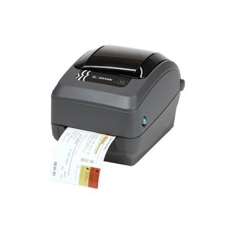 Zebra GX430t imprimante pour étiquettes Thermique direct/Transfert thermique 300 x 300 DPI Avec fil