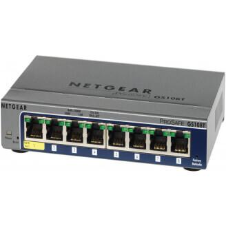 Netgear GS108T-200 Géré L2 Gigabit Ethernet (10/100/1000) Gris